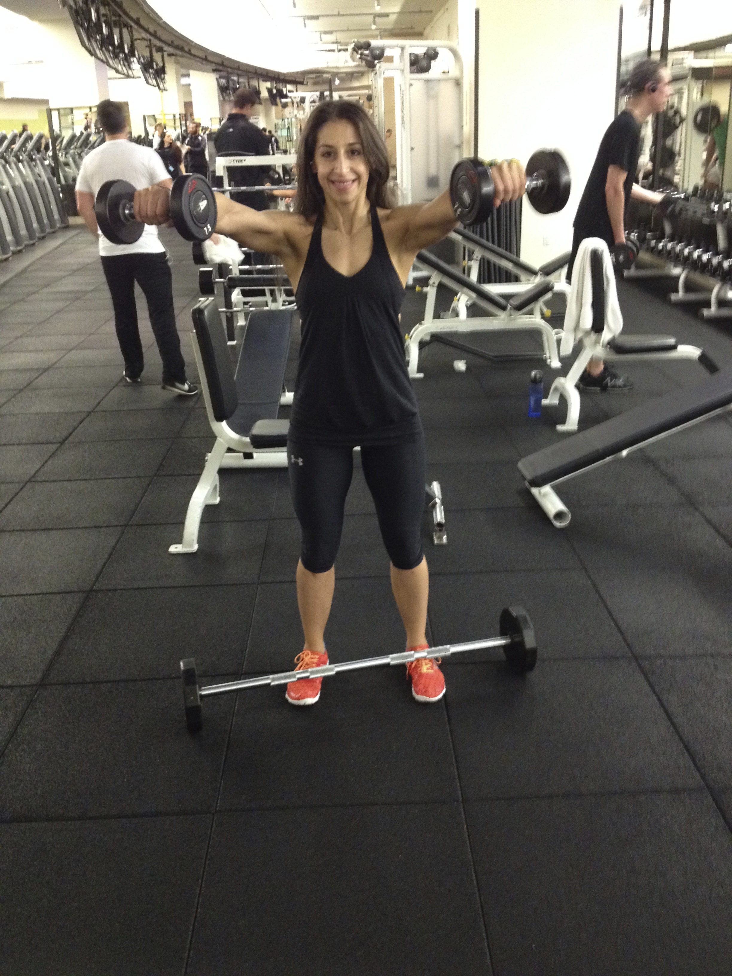 Dumbbell Lateral Raise Superset With Dumbbell Front Raise Sides until ...